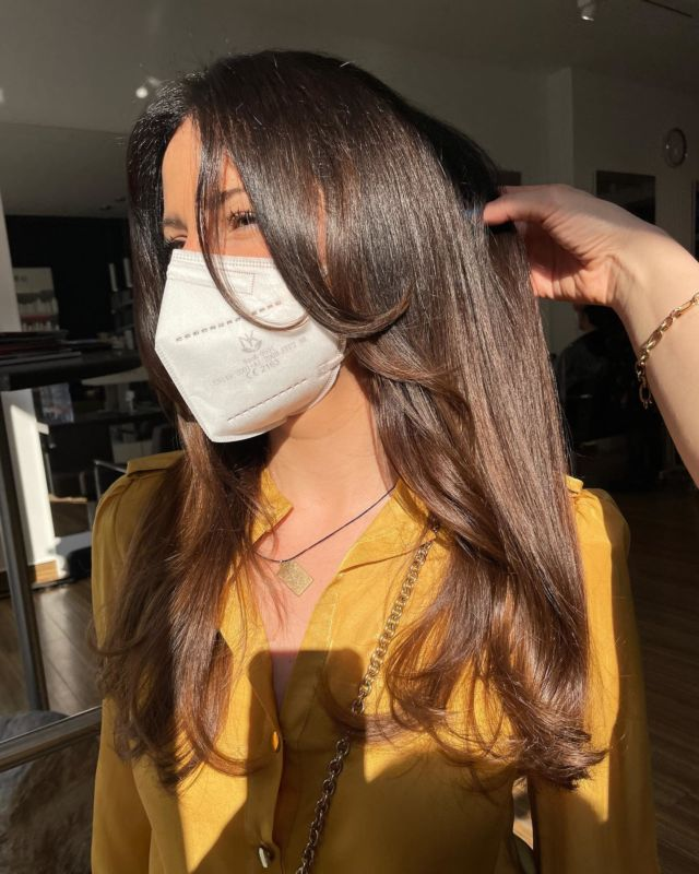 Shiny hair - next level ❤️😍🤌🏽 with our very special color technique 🥰💫